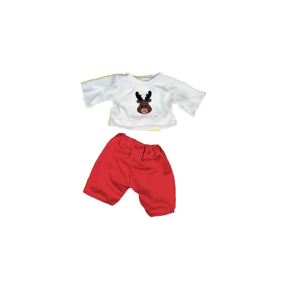 """Red Snowflake PJ/'s Teddy Bear Clothes Outfit Fits Most 14/""""-18/"""" Build-A-Bear and"""