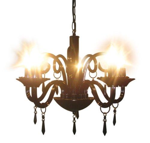 Naeve Leuchten Deko-Krone 5flg. / ø 53 cm Höhe: 45 cm, schwarz 821922
