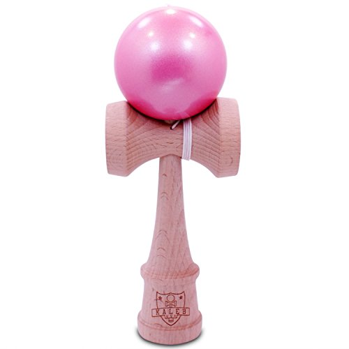 Kaleb Kendama With Metallic Pink Ball And Extra String (Kendama Extra Ball compare prices)