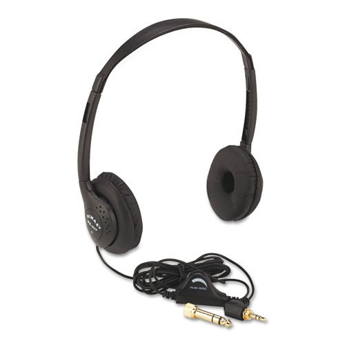 Amplivox - Personal Multimedia Stereo Headphones With Volume Control, Black Sl1006 (Dmi Ea