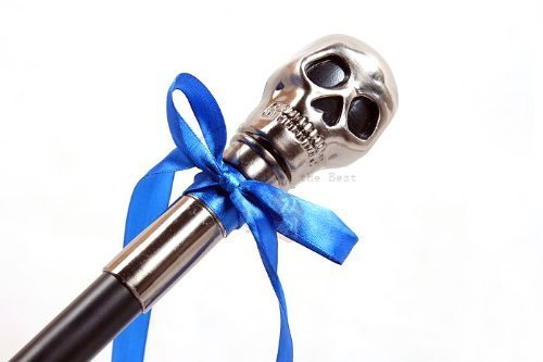 Perfect Black Butler Ciel skull walking stick cane white gloves 2 piece set Cosplay tool by abc-style