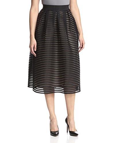 A.B.S. by Allen Schwartz Women's Stripe Texture Skirt