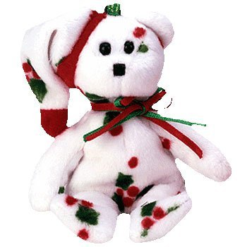 Ty Jingle Beanies - 1998 Holiday Teddy - 1