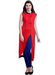 Rudraksh Fashion red only kurti (semistitch)