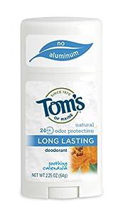 Tom's of Maine Natural Care Natural Deodorant Stick, Calendula, 2.25 oz (64 g) (Pack of 6)
