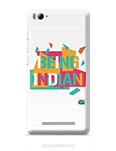 Posterguy Being Indian Abstract Case Cover For Redmi Mi 4I, Xiaomi Mi 4I (White)