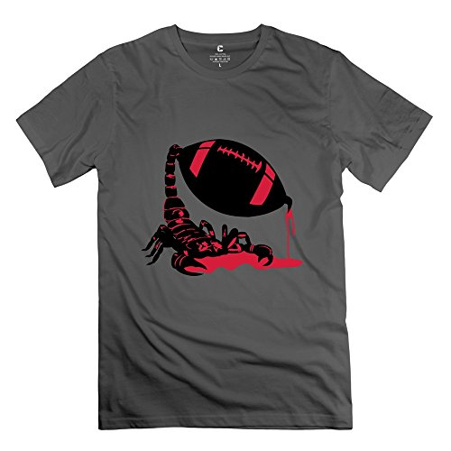 Yongth Men'S Scorpion Football 100% Cotton T-Shirt - Funny T-Shirt Deepheather Us Size Xl