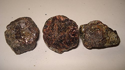 (#D) 3Pc Garnet From Russia Small & Medium Raw Rough Nuggets 100% Natural Crystal Gemstone Specimen