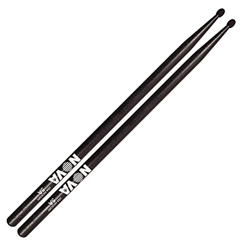 Vic Firth Drumsticks Nova 5A Black Drumsticks - Hickory 1 Pair