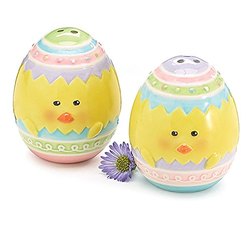 Salt and Pepper Chick Faced Egg Shakers