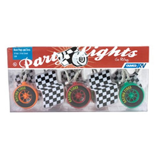 Camco 42658 RV Race Flags & Tires Party Light