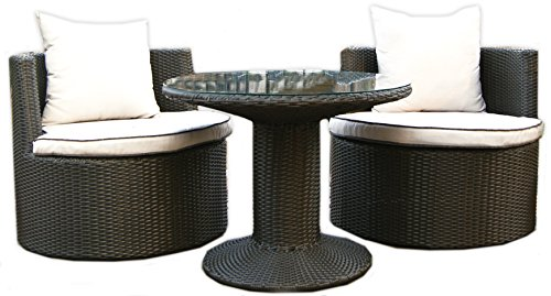 Deeco DM-GV-505 Art-Deck-Oh Geo Vino Interlocking All Weather Wicker Furniture Set image