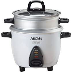 Aroma ARC-733-1G 3-Cup Rice Cooker & Food Steamer