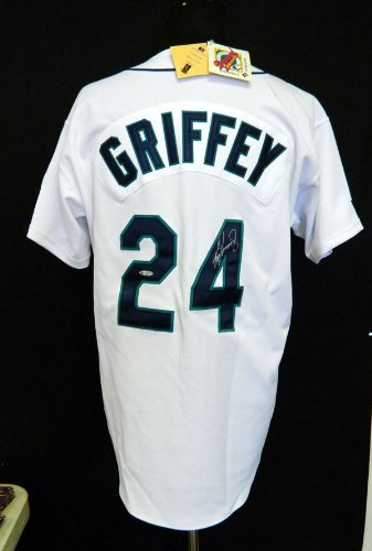 Ken Griffey Jr. Signed Seattle Mariners White Jersey UDA Authenticated Auto at Amazon.com