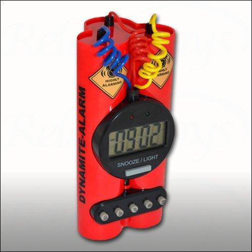 Relaxdays Dynamite Alarm Clock With Sound Bomb Alarm