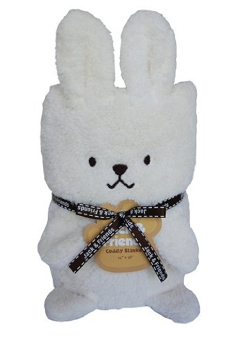 Towel Treat Plush Blanket, Bunny - 1