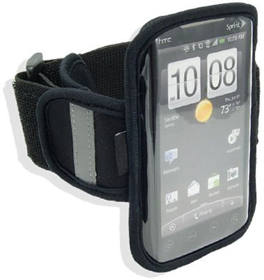 Navitech Black Neoprene Water Resistant Sports Gym, Jogging / Running Armband Case with