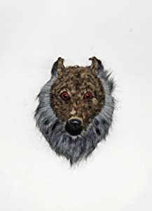The Stetson | Faux Wolf Head | Mounted Wolf | Faux Taxidermy | Animal Head Wall Hanging Sculpture | Animal Mounts | Trophy Taxidermy