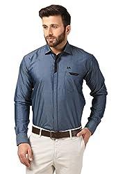 Mesh Full Sleeves Casual Cotton Blended Shirt for Men's/Boy's (Grey) -42