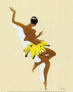 Black Thunder, Josephine Baker Art Poster Print by Paul Colin, 10x12