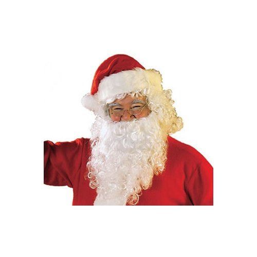 Rubie's Men's Value Santa Beard and Wig Set, White, One Size - 1