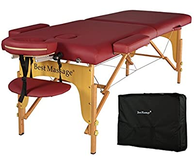 "2"" Pad Folding Portable Massage Table"