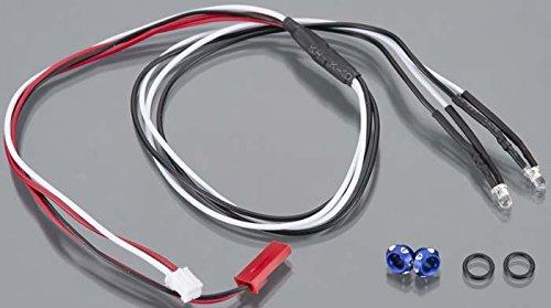 Integy C24385Blue Alloy Led Holder Set 3Mm + (2) White Led Lgh