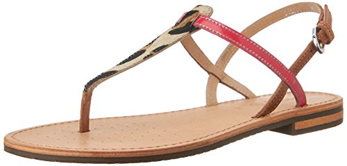 Geox D Sozy F Infradito, Donna, Beige (Lt Taupe/Coral), 39