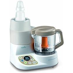 Nuvita NU-PPFP0001 Pappasana Vapor Combo 2-In-1 Mini Robot da Cucina, Cuocipappa a Vapore e Scaldobiberon