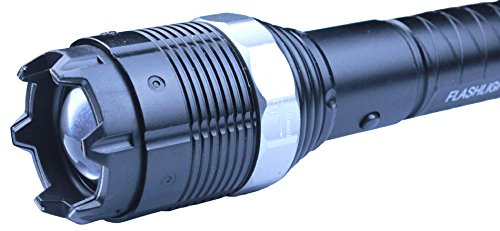 Toplimit Heavy Duty Stun Gun 35,000,000V Rechargeable With Led Tactical Flashlight Zoom In / Out