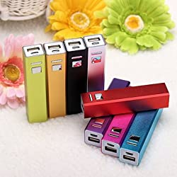 Power Bank 18650 Battery DIY Charger Portable for Flashlight (Gold) Brand New Imported