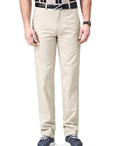 Lende Men's cotton Straight Fit  Flat  Front Leisure Pant