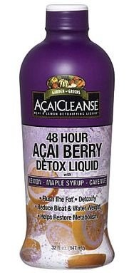 Garden Greens AcaiCleanse 48 Hour Acai Berry Detox with Lemon-Honey-Cayenne 32 fl oz (947 ml)