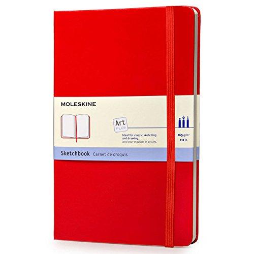 moleskine-s30345-cuaderno-de-bocetos-tamano-grande-tapa-dura-color-rojo
