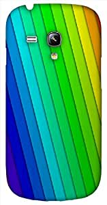 Timpax protective Armor Hard Bumper Back Case Cover. Multicolor printed on 3 Dimensional case with latest & finest graphic design art. Compatible with Samsung S-3Mini - I8190 Galaxy S III mini Design No : TDZ-23597