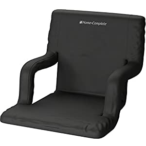 Deluxe Wide Stadium Seats Chairs for Bleachers or Benches - Enjoy Extra Padded Cushion Backs and Armrests - 6 Reclining Custom Fit Sport Positions - Portable Easy to Carry Straps