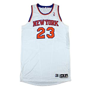 Marcus Camby Jersey - NY Knicks 2012-2013 Season Game Ready White and Orange Jersey... by Steiner Sports