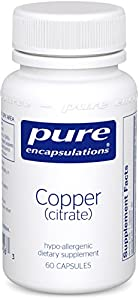 Pure Encapsulations - Copper (Citrate) - 60 VegiCaps (Premium Packaging)