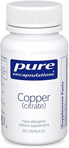 Pure Encapsulations - Copper Citrate 60 Vegetarian Capsules