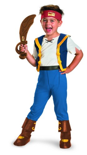 Disney Jake And The Neverland Pirates Jake Deluxe Costume, 3T-4T