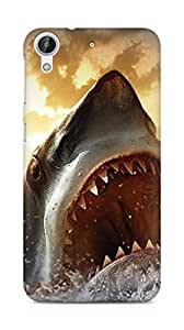 Amez designer printed 3d premium high quality back case cover for HTC Desire 626 G Plus (Ocean Shark Sharp Mouth Painting)