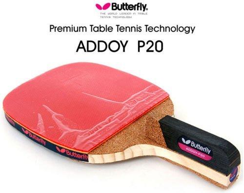 Butterfly-Racchetta da Ping-Pong ADDOY P20 Penholder Paddle-Racchetta da Ping-Pong & Ball