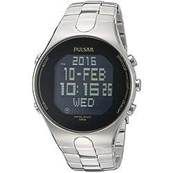 Pulsar PQ2051 Quartz Stainless Steel Dress Men's Watch