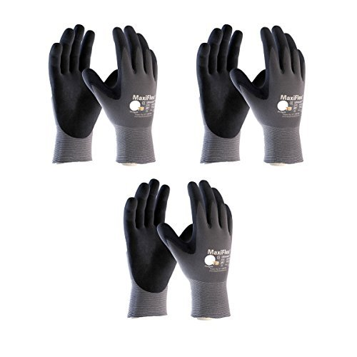 3 Pack 34-874 3XL MaxiFlex Ultimate Nitrile Grip Work Gloves Size XXX-Large (3Pair Pack)