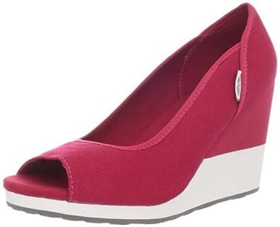 Teva Women's Mush Promenade Wedge Sandal,Red,5 M US