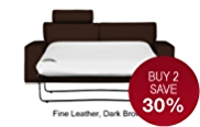 Finn (No Dock) Medium Sofa Bed - Leather