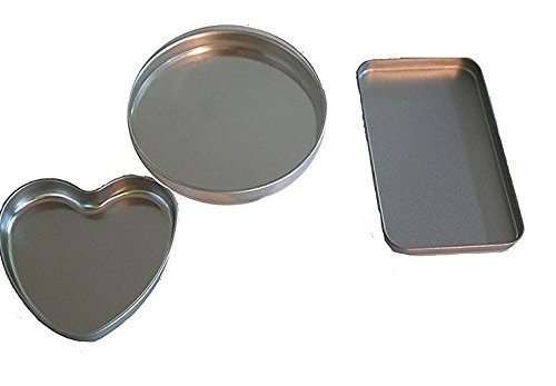 4 Pan Kit to fit Easy Ovens Bake , Heart Pan, 2 Round Pans & 1 small extra rectangle pan replacements (Bake Cookware compare prices)