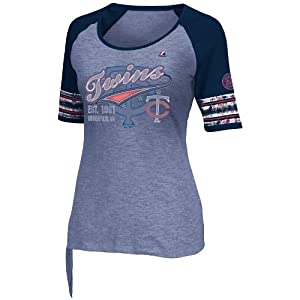 MLB Minnesota Twins Ladies My Favorite Game T-Shirt, Navy by Majestic
