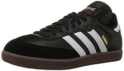 adidas Men\'s Samba Classic Soccer Shoe,Black/Running White,11 M US
