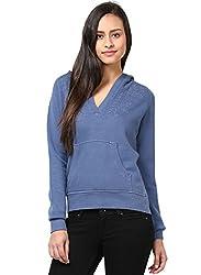 GRAIN Blue Color Regular fit Cotton Autumn Jackets for Women